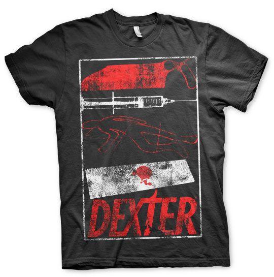 Dexter pánske tričko s potiskem Signs