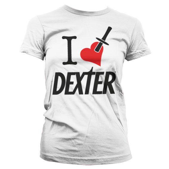 Dexter stylové dámské tričko s potiskem I Love Dexter