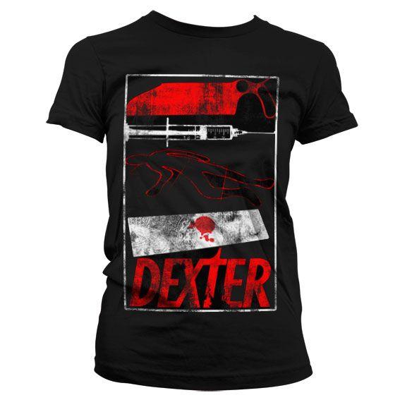 Dexter stylové dámské tričko s potiskem Signs