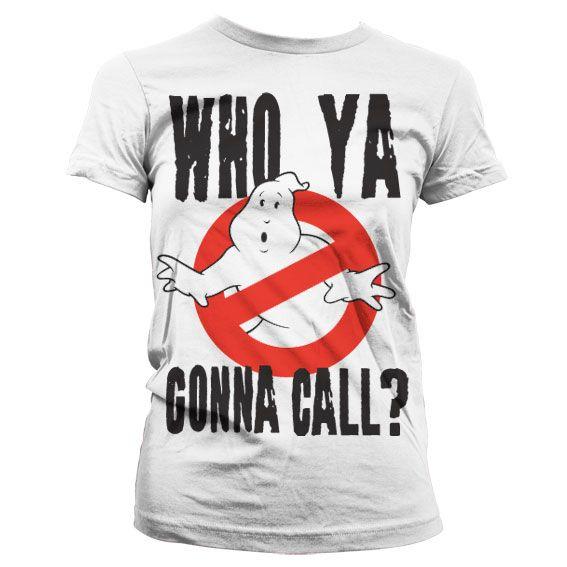 Ghostbusters stylové dámské tričko s potiskem Who Ya Gonna Call?