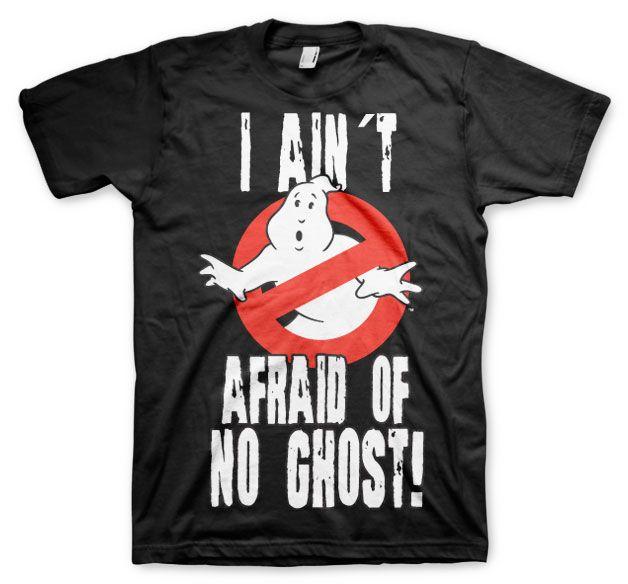Ghostbusters stylové pánské tričko s potiskem I Ain´t Afraid Of No Ghost