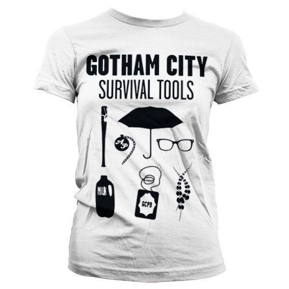 Gotham módní dámské tričko s potiskem Survival Tools