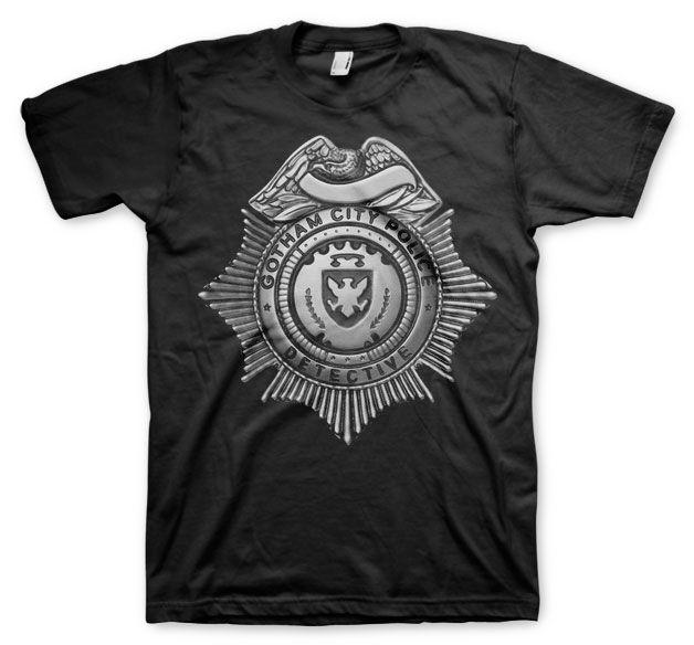 Gotham módní pánské tričko s potiskem Gotham Detective Shield