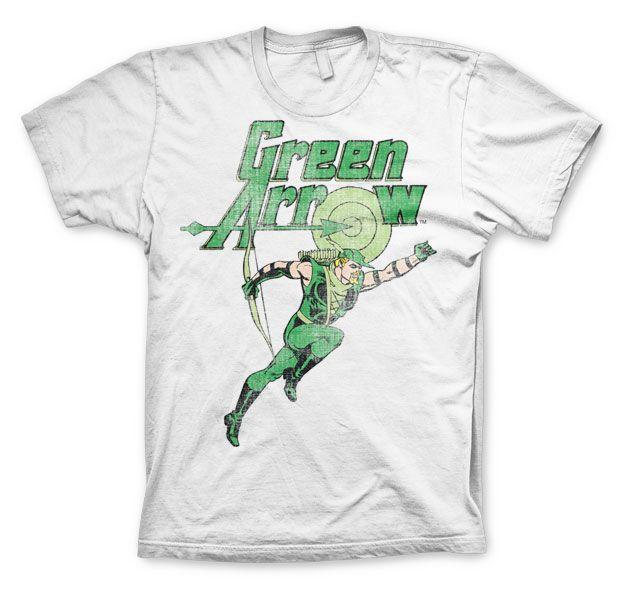 Green Arrow stylové pánské tričko s potiskem Distressed