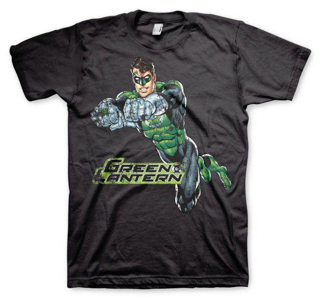 Green Lantern stylové pánské tričko s potiskem Distressed