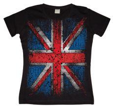 Dámské módní tričko Distressed Union Jack Flag