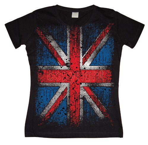 Hot Rod & Bikers stylové dámské tričko s potiskem Distressed Union Jack Flag L