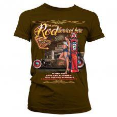Dámské módní tričko Get Your Rod Service Here