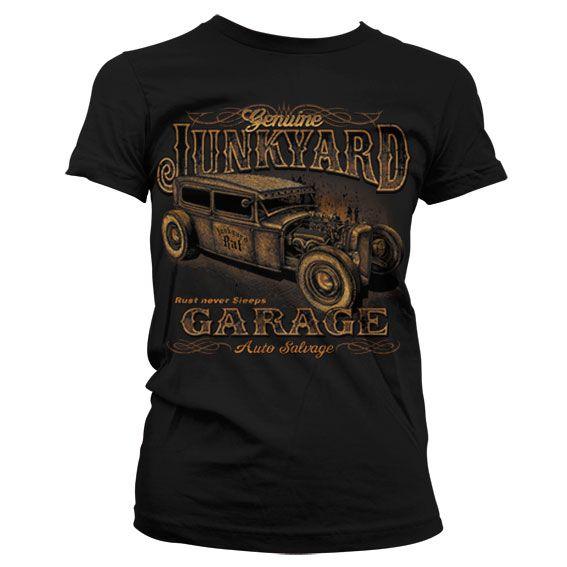 Hot Rod & Bikers stylové dámské tričko s potiskem Junkyard Garage