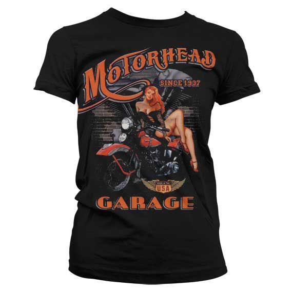 Hot Rod & Bikers stylové dámské tričko s potiskem Motorhead Garage