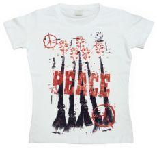 Dámské módní tričko Peace, Flowers & Rifles