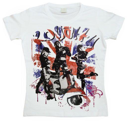 Hot Rod & Bikers stylové dámské tričko s potiskem UK Vespa Royalty