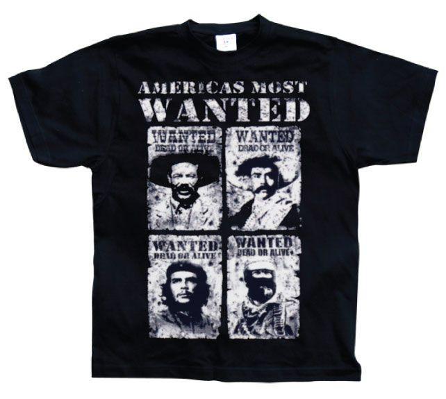 Hot Rod & Bikers stylové pánské tričko s potiskem Americas Most Wanted