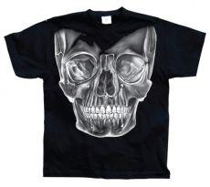 Pánské módní tričko Big White Skull