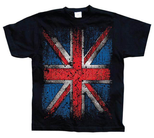 Hot Rod & Bikers stylové pánské tričko s potiskem Distressed Union Jack Flag L