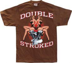 Pánské módní tričko Double Stroked