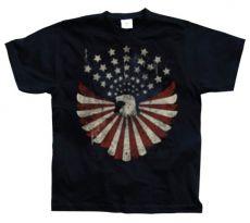 Pánské módní tričko Eagle Flag With Stars