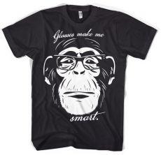 Pánské módní tričko Glasses Makes Me Smart