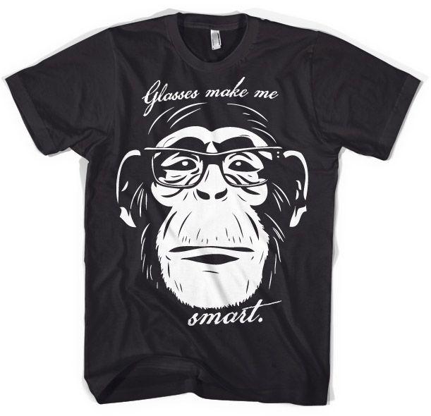 Hot Rod & Bikers stylové pánské tričko s potiskem Glasses Makes Me Smart
