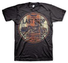 Pánské módní tričko Last Stop Motorcycle Repair