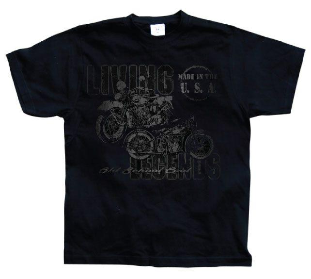 Hot Rod & Bikers stylové pánské tričko s potiskem Living Legends