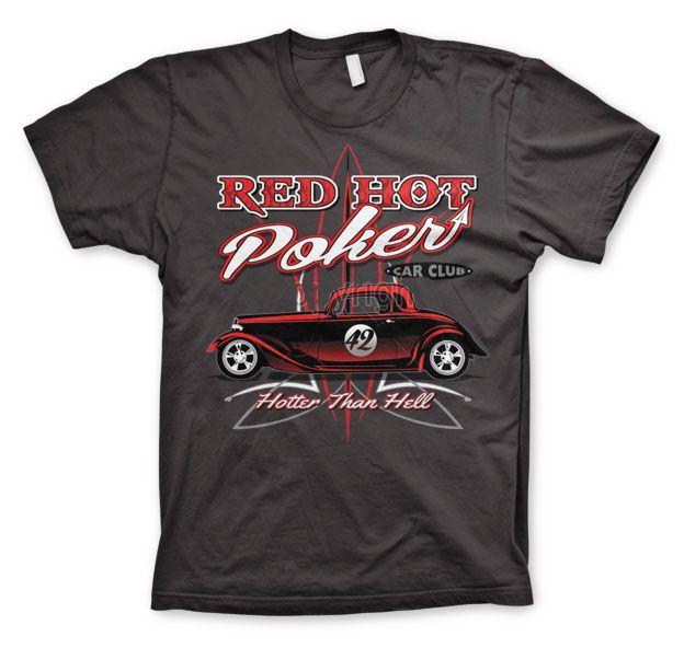 Hot Rod & Bikers stylové pánské tričko s potiskem Red Hot Poker Car Club