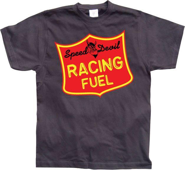 Hot Rod & Bikers stylové pánské tričko s potiskem Speed Devil Racing Fuel