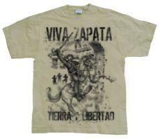 Pánské módní tričko Viva Zapata Tierra Libert