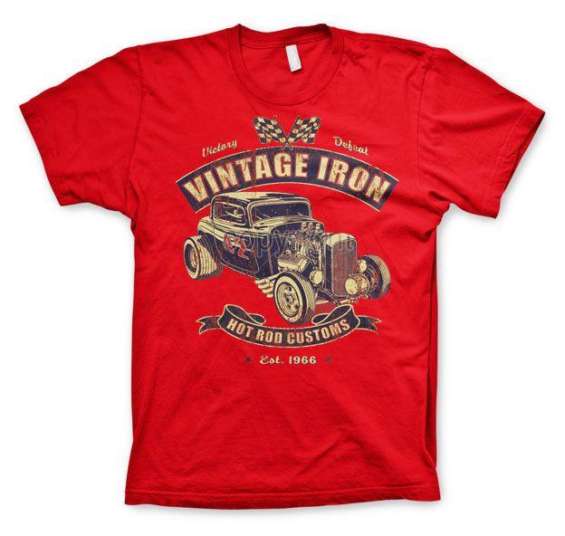 Hot Rod & Bikers stylové pánské tričko s potiskem Vintage Iron