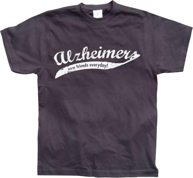 Pánské triko s humorným potiskem Alzheimers - New Friends Everyday!