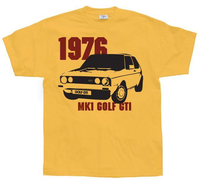 Pánské triko s humorným potiskem Golf GTI Mk1 1976