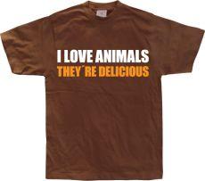 Pánské tričko I Love Animals!