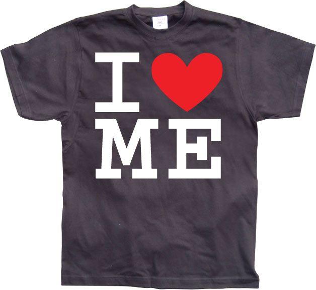 Pánské triko s humorným potiskem I Love Me