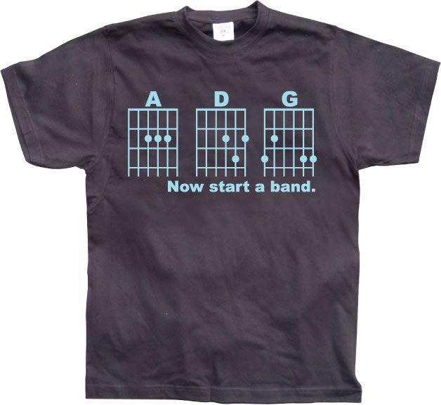Pánské triko s humorným potiskem Now Start A Band!