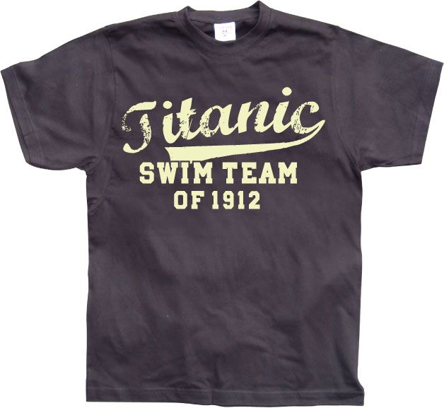 Pánské triko s humorným potiskem Titanic Swim Team