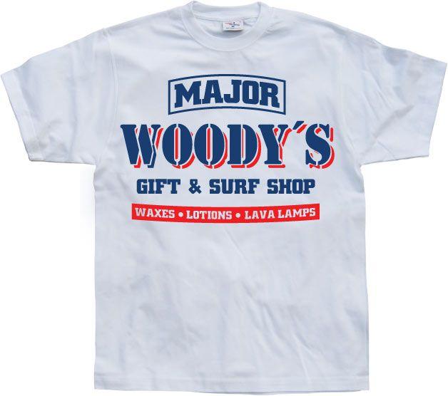 Pánské triko s humorným potiskem Woody´s Army & Surf Shop