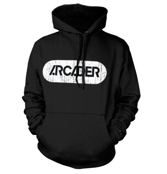 Pixels stylová hoodie mikina s potiskem Arcader Distressed Logo