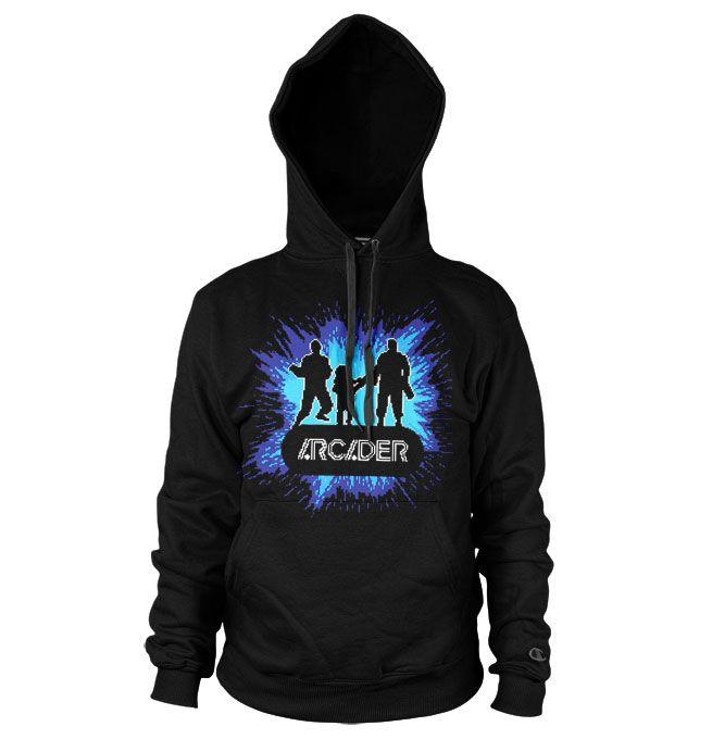Pixels stylová hoodie mikina s potiskem Arcader Team