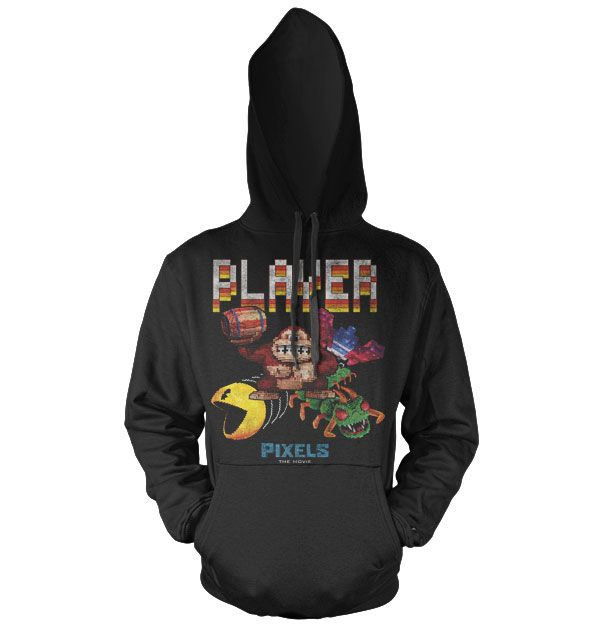 Pixels stylová hoodie mikina s potiskem Retro Player