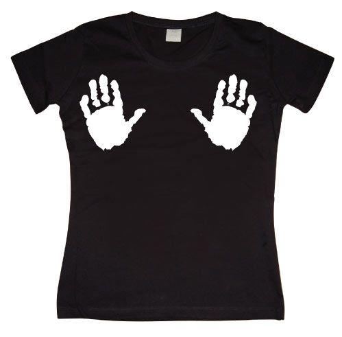 Stylové dámské triko s humorným potiskem Hands