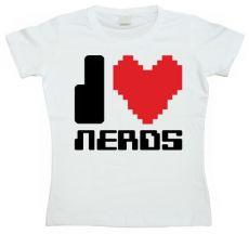 Dámské tričko I Love Nerds