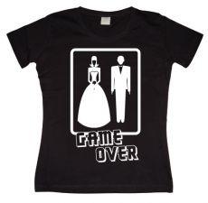 Dámské tričko Wedding - GAME OVER!