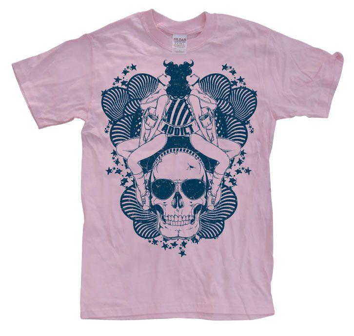 Stylové pánské triko s humorným potiskem Addicted Vintage Skull