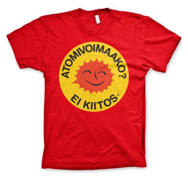 Stylové pánské triko s humorným potiskem Atomivoimaako - Ei Kiitos