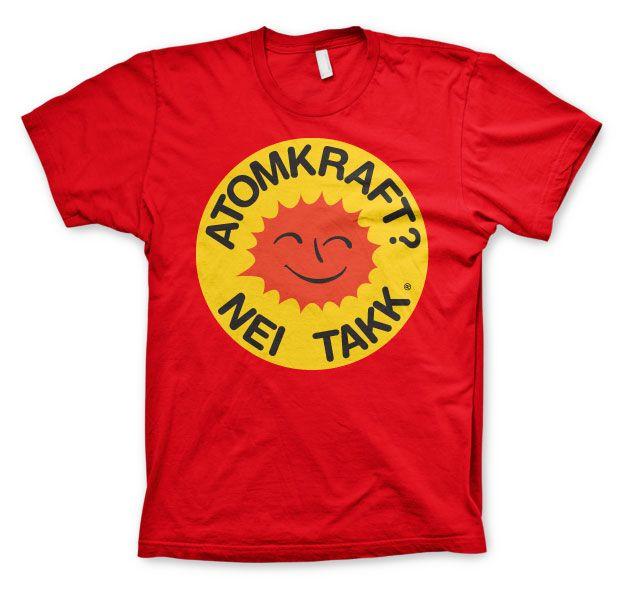 Stylové pánské triko s humorným potiskem Atomkraft - Nei Takk