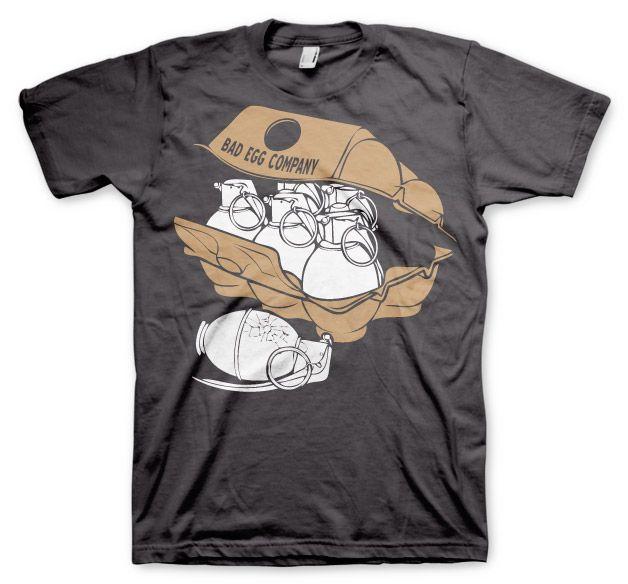 Stylové pánské triko s humorným potiskem Bad Eggs Company
