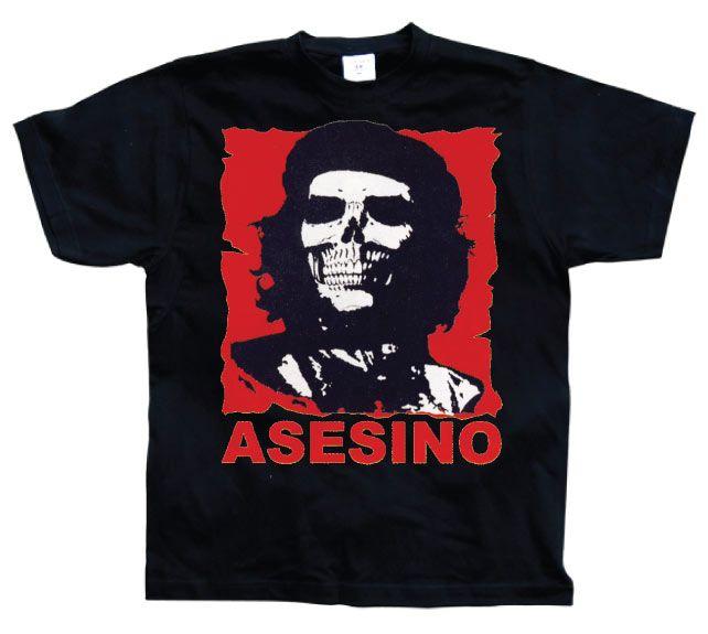 Stylové pánské triko s humorným potiskem Che Guevara Asesino