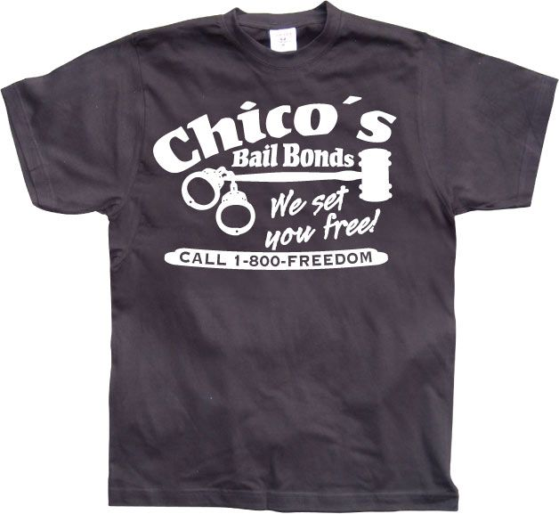 Stylové pánské triko s humorným potiskem Chicos Bail Bonds