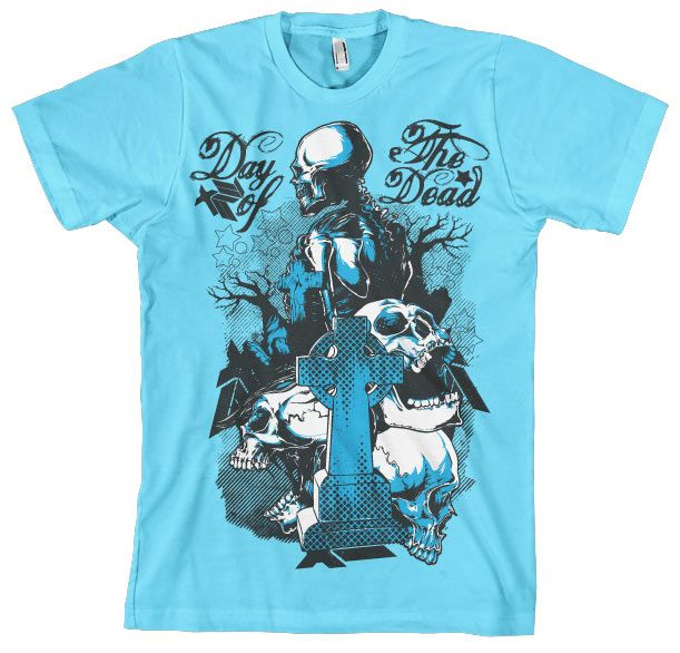 Stylové pánské triko s humorným potiskem Day Of The Dead