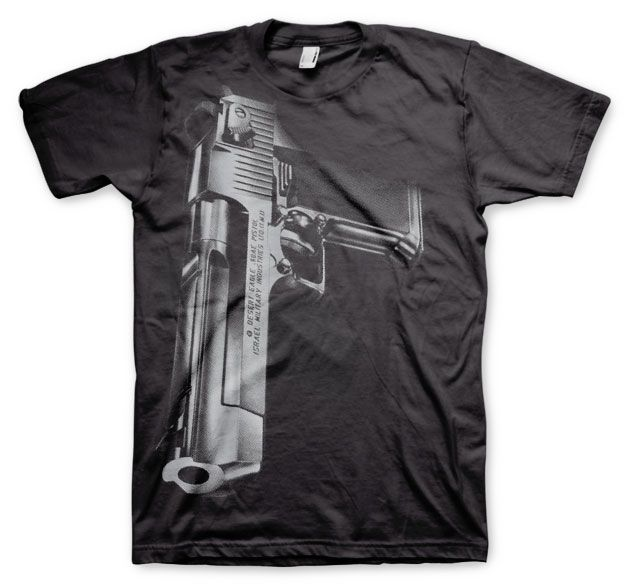Stylové pánské triko s humorným potiskem Desert Eagle Gun